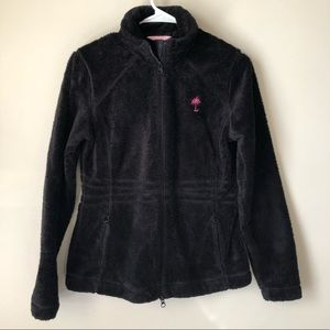Lilly Pulitzer Maddie Zip front jacket black SM